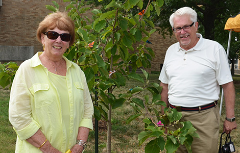 Rose Porter Dedicates Trees and Bench to SSON
