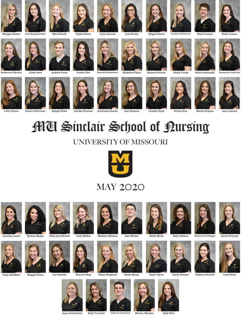 May 2020 graduate composite photos